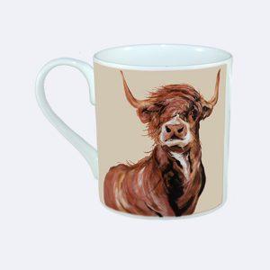 Highland Cow Bull Mug