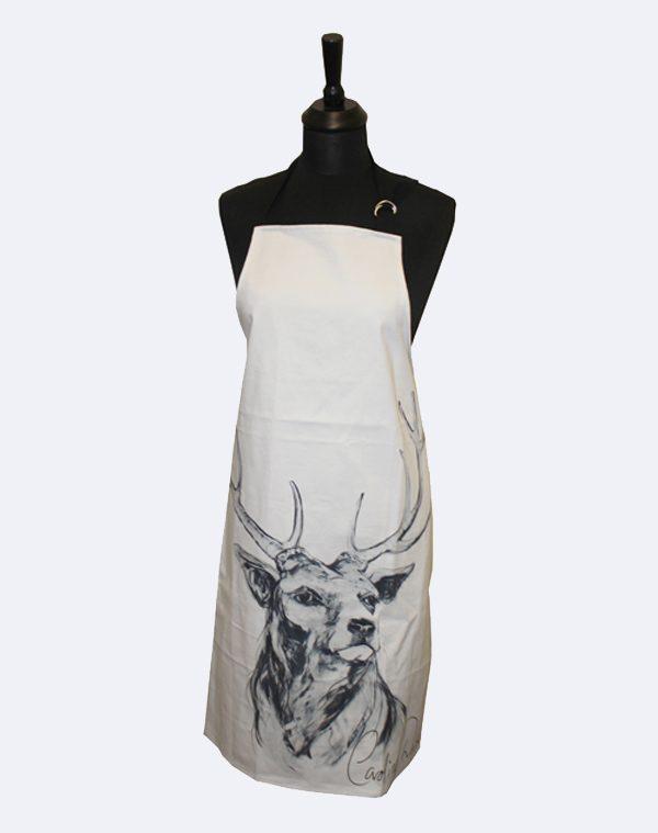 Grey stag apron